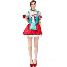 German Oktoberfest Costume Womens Beer Woman Dress Cosplay Halloween For Women