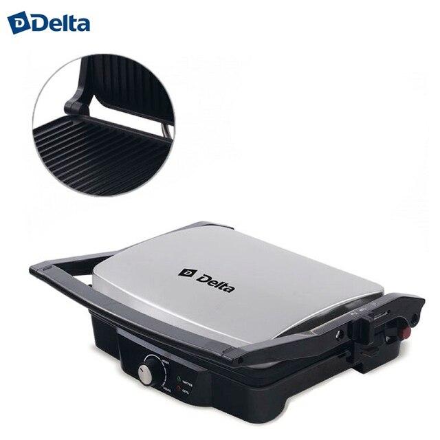 Электрический сэндвич-гриль DELTA DL-045, панели с антипригарным покрытием