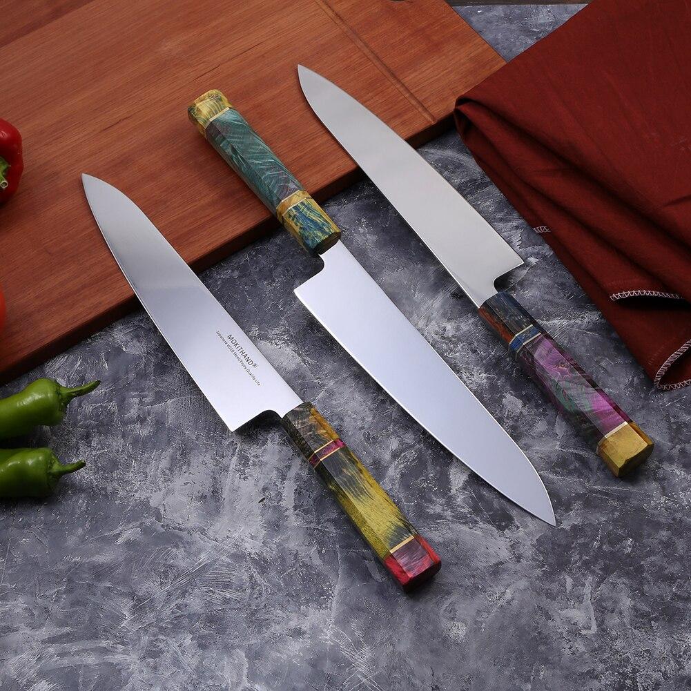9 بوصة الشيف سكين اليابانية VG10 سكاكين المطبخ 240 مللي متر المهنية اليابان دمشق الصلب الأسماك اللحوم سكين من المطبخ أداة-في سكاكين مطبخ من المنزل والحديقة على  مجموعة 2