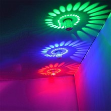 RGB spiral hole art 3W led ceiling lights Remote control aluminum wall sconce Indoor decorative AC85-265V