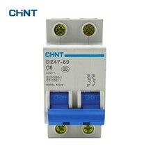 CHINT Miniature Circuit Breaker Small Circuit Breakers Home Air Switch DZ47-60 2P C6 Short Circuit Protector MCB chint miniature circuit breaker mcb dz47 60 2p d10 household miniature circuit breaker air switch