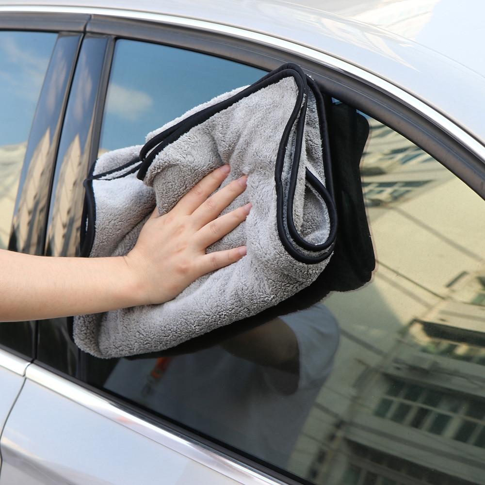 NEW Super Absorbent 74cm x 90cm Twist Korean Microfibre Car Drying Towel Cloth Grey