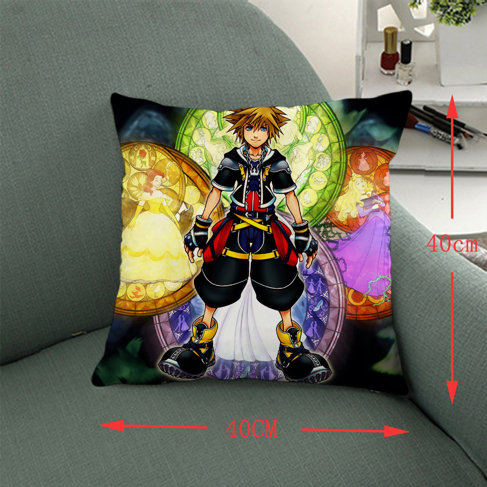 OHCOMICS 40*40CM Game Kingdom Hearts sora Pillow Home Decoration Costume Comic Accessory Gifts Decoration for Sofa