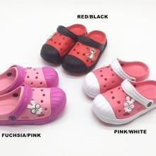 Летние милые пляжные сандалии для маленьких девочек; тапочки с орнаментом; обувь для маленьких девочек; 26, 27, 28, 29, 30, 31