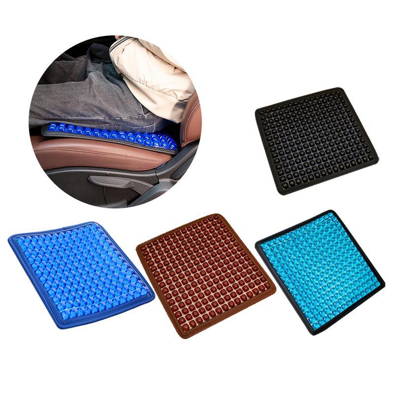 Gel d'été coussin de siège de refroidissement amélioré antidérapant en mousse à mémoire de bureau chaise de voiture coussin respirant pour la douleur au coccyx Bac sciatique