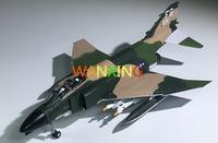 Militar Aircraft Model F4 Phantom Airplane 1/100 Diecast Scale Model Modern Military Combat Plane Avion Toys For Children