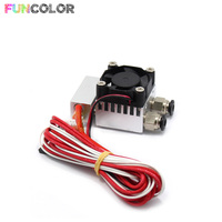 2 in 1 out J Head Single Head Remote Extruder Mix Extrusion 3D Printers Parts Metal Heat Sink Fan Part 3D Printer Accessories
