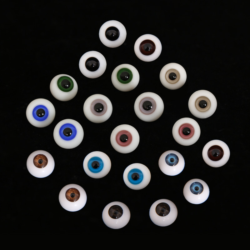 BJD Eyes Eyeball Size 1/3 1/4 1/6 1/8 High Quality SD MSD Light Grey Dark Green Redpurple Smoky Sapphire Blue Eyes