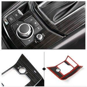Image 1 - Mazda için CX 5 CX 5 2017 2018 paslanmaz çelik araba vites elektronik el freni paneli kapak sadece LHD