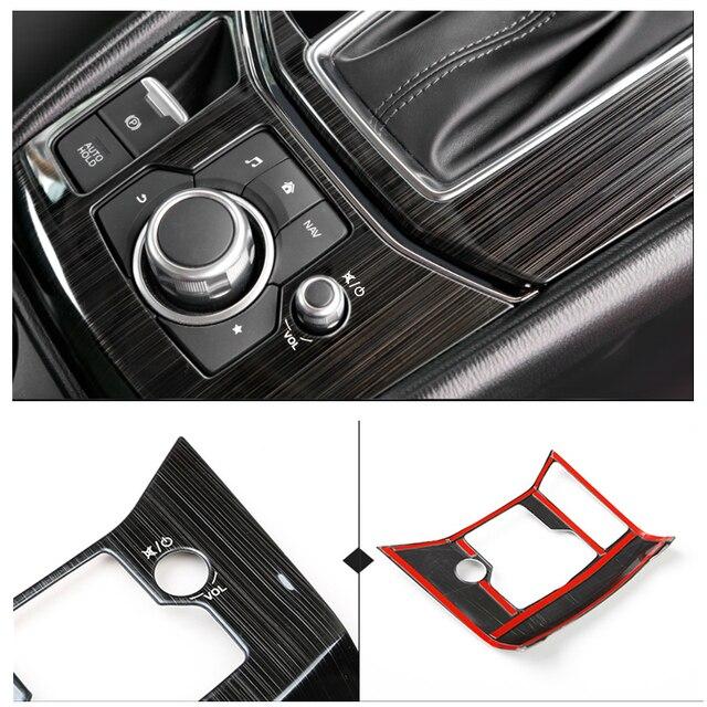 Mazda için CX 5 CX 5 2017 2018 paslanmaz çelik araba vites elektronik el freni paneli kapak sadece LHD