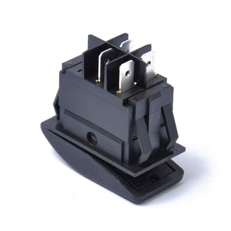 1 шт. 12 В 20A 4 контакта выключатель автомобиля Водонепроницаемая кнопка с светодиодный свет для автомобилей, лодок, дозаторов воды (зеленый свет)