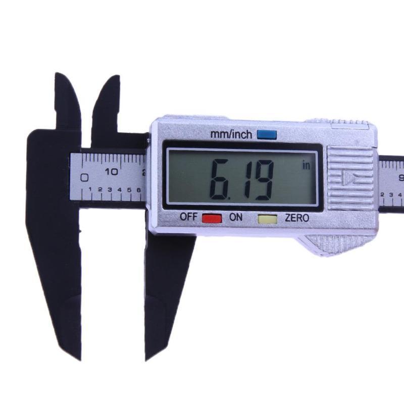 150mm 6 inch Plastic LCD Digital Electronic Vernier Caliper Scale Ruler Vernier Caliper Gauge Micrometer Measuring Tool 2018 Ne