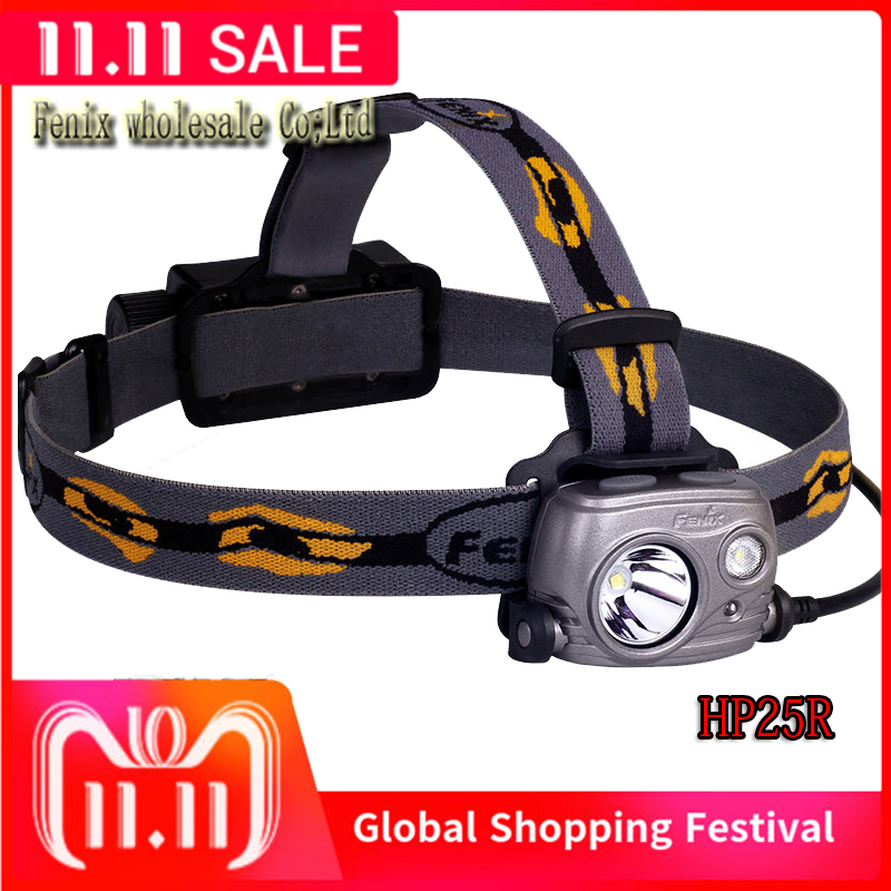 Fenix HP25R Outdoor Headlamp1000 Lumens Waterproof Rescue Search Headlight 18650