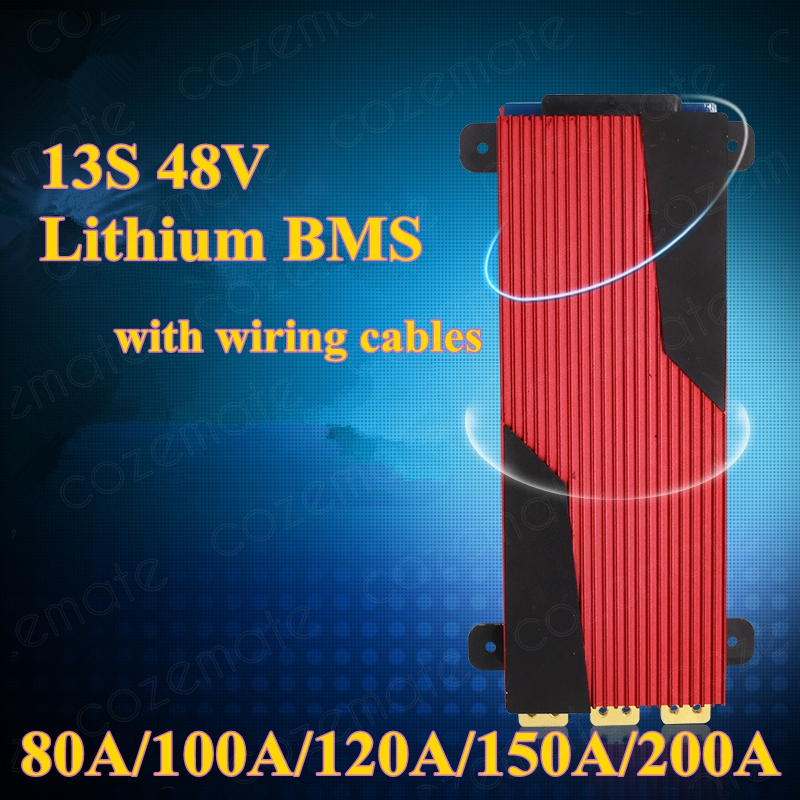 1pcs BMS 48v Lithium 13S 48v 80A 100A 120A 150A 200A Discharge Battery Pack Bms Protection
