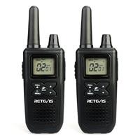 2 PCS RETEVIS RT41 NOAA Two Way Radio Walkie Talkie Licence free FRS Radio USB Charging USA Weather Alert Radio Receiver Black
