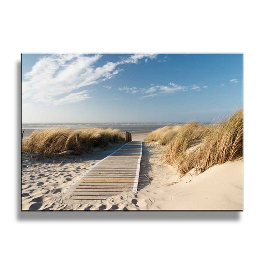 Canvas Paintings Wall Art 1 Piece Beach Views Pictures Sand Dunes In North Sea Posters Living Room Decor Shipped 24 Hour