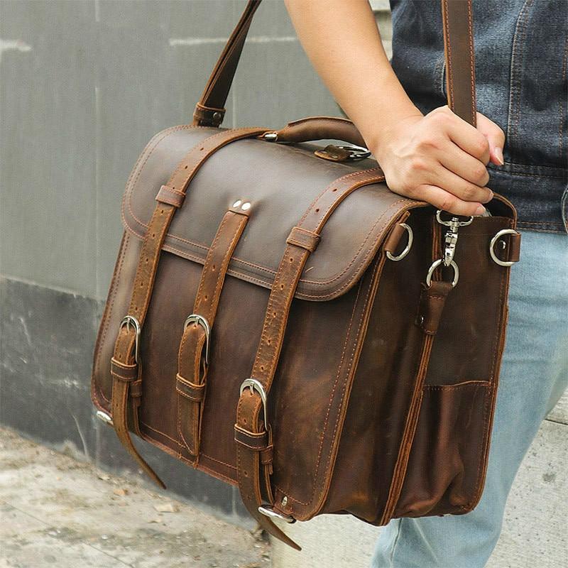 Men's Genuine Leather Briefcase 17