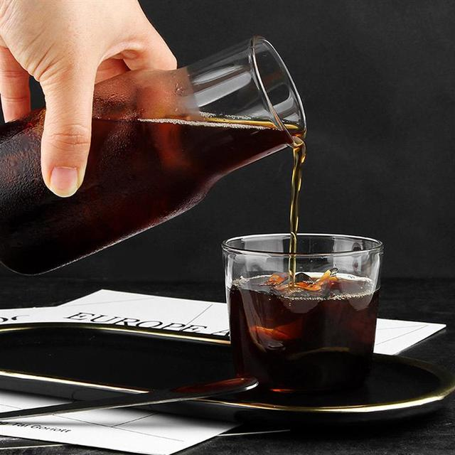 Glass Juice Bottle and Cup Set