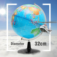 32CM World Earth Globe Map Geography Educational Toy With Stand Home Office Ideal Miniatures Gift office gadgets