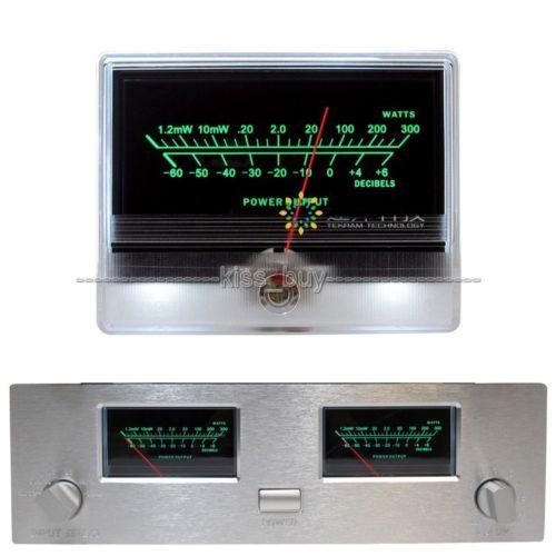 DYKB VU Panel Meter Header High Precision Audio Power Amplifier Indicator Preamp Tube AMP DB Table Level Header LED Backlight