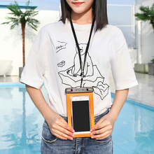 2019 new swimming bag all models 6.1 inch mobile phone case Thicken with lanyard waterproof bag for iphone x 6plus 7 8p