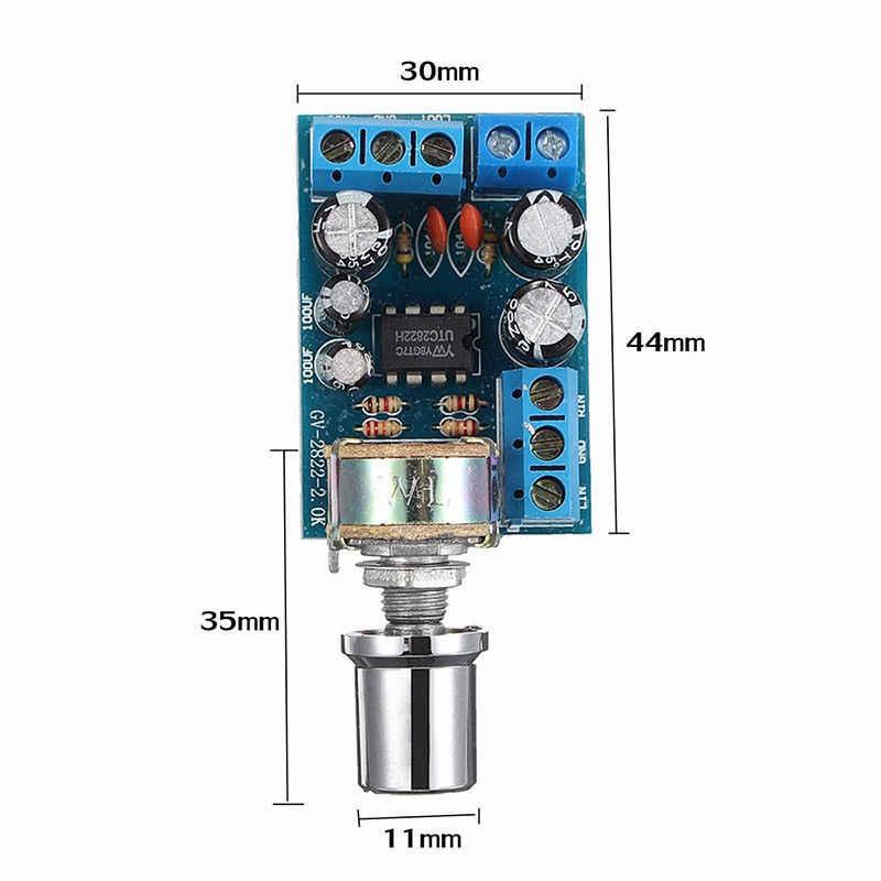 דקירות TDA2822 TDA2822M מיני 2.0 ערוץ 2x1W סטריאו אודיו מגבר כוח לוח DC 5V 12V רכב נפח בקרת פוטנציומטר Modu