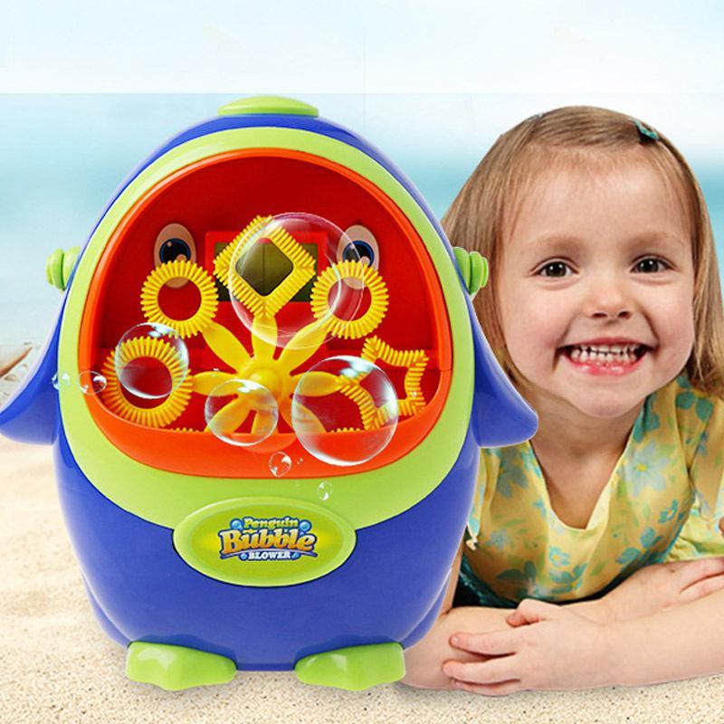 Electric Cikoo Penguin Shape Bubble Machine Kids Toy with Bubble Water Children Kids Bath Toys