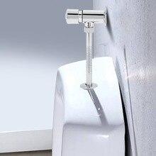 Горячее предложение! Распродажа! Прочный цинковый сплав заподлицо клапан офис отель ванная комната туалет ручной нажатие промывки инструмент