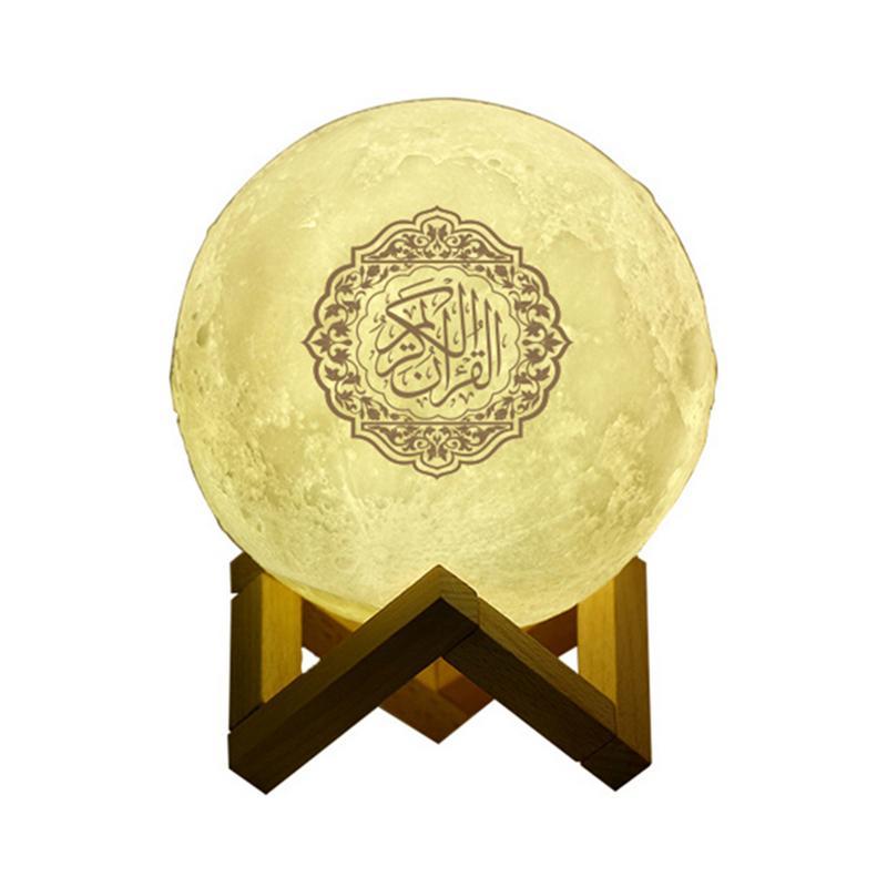 Haut-parleur Bluetooth sans fil coloré lumière LED lampe de lune lumière de nuit coran haut-parleur coran réciter haut-parleur musulman télécommande