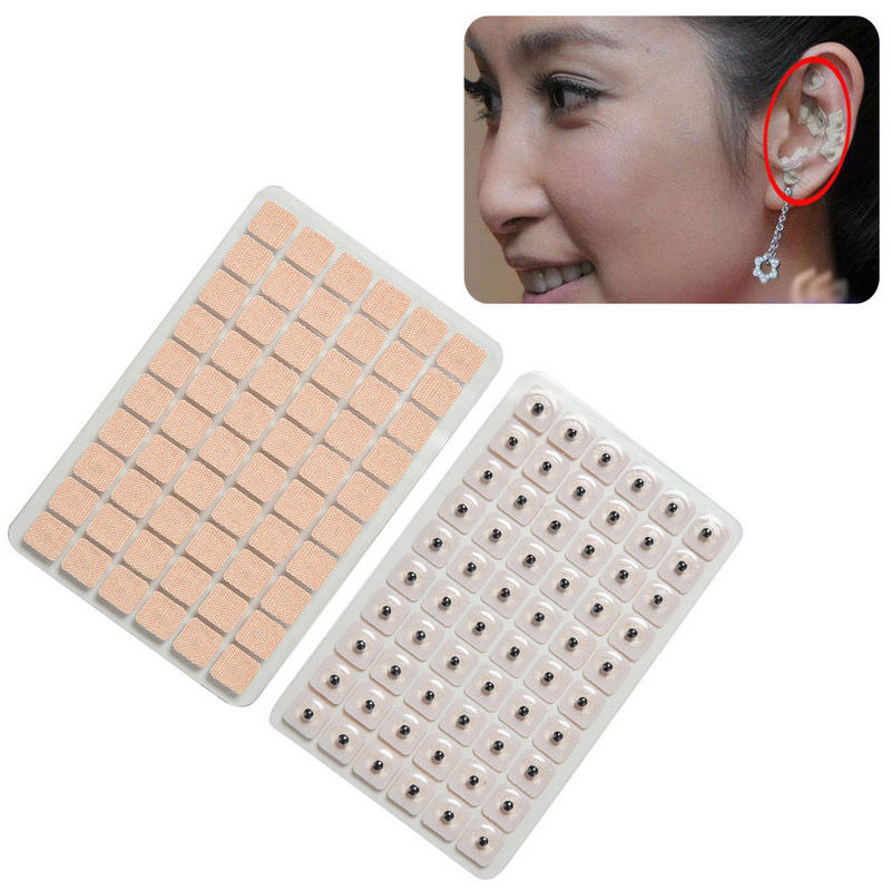 Image 3 - 600pcs Disposable Ear Acupuncture Massage Therapy Needle Patch Auricular Auriculotherapy Vaccaria Ear Care Seeds Sticker-in Massage & Relaxation from Beauty & Health