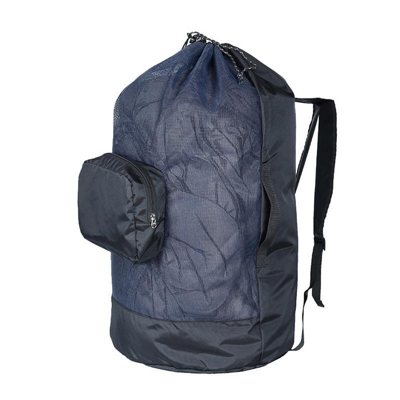 400D Oxford Mesh 40L Swimming Bag Lightweight Back Adjustable Shoulder Pocket With Pocket Swimming Bag Lightweight And Durable