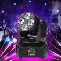Mini 4 leds rgbw movendo a cabeça efeito de palco luz 9/12 canal dmx512 som activated para discoteca interior ktv club Efeito de Iluminação de palco     -
