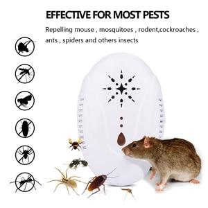 Image 1 - جديد بالموجات فوق الصوتية طارد الحشرات الولايات المتحدة التوصيل 13.3X6.4X8.7cm مكافحة البعوض للمنزل ABS البعوض القاتل مصباح للحديقة