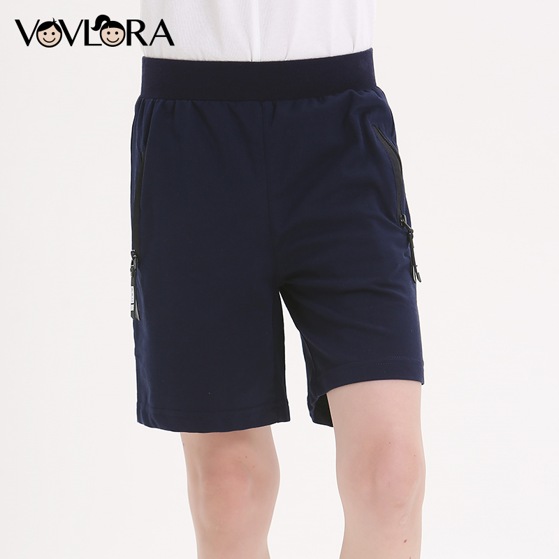 Sport Boys Shorts Cotton Summer Elastic Waist Solid Loose Kids Shorts Pants Children Clothes 2018 Size 7 8 9 10 11 12 13 14 Year цена