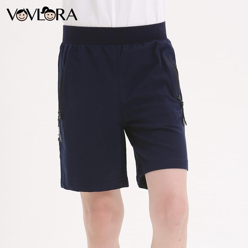 100% Wahr Sport Jungen Shorts Baumwolle Sommer Elastische Taille Solide Lose Kinder Shorts Hosen Kinder Kleidung 2018 Größe 7 8 9 10 11 12 13 14 Jahr