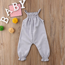 Pudcoco 2019 New Brand Cute Toddler Infant Newborn Baby Girls Clothes Strap Romper Jumpsuit Overall Sleeveless Summer Sunsuit(China)