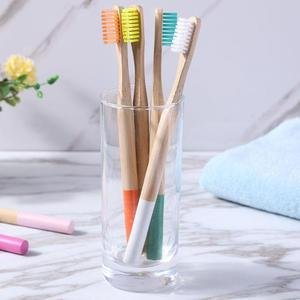 Image 5 - 16pcs Bamboo Toothbrush Multicolor Natural Eco Friendly Soft Bristle Children Adult Toothbrush Teeth Cleaning Brush Oral Care