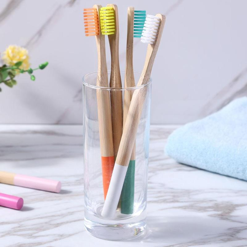 Image 5 - 16pcs bamboo toothbrush Multicolor Eco Friendly Soft Bristle Children Toothbrush Anti Bacterial Teeth Cleaning Brush Oral Care-in Toothbrushes from Beauty & Health