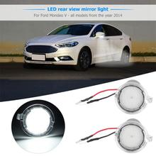 Light Bulbs for Cars 1 Pair LED Side Mirror Puddle Lights for Ford Edge Mondeo Explorer Taurus Signal Lamp Car Lights New