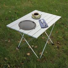 Tavolo in Lega di alluminio Pieghevole Scrivania Tavolo per Esterni di Campeggio Esterna Pieghevole Da Tavolo