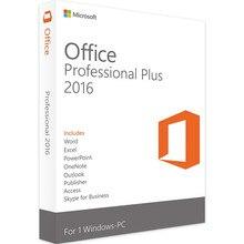 Microsoft Büro 2016 Professional Plus für Windows PC Einzelhandel Boxed Produkt Schlüssel Karte innen mit DVD