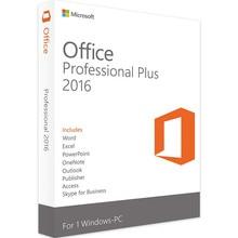 Microsoft Office Professional Plus 2016 tarjeta clave de producto en caja para Windows PC, con DVD