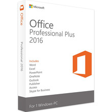 Microsoft office 2016 profissional plus, para windows pc varejo caixa chave do produto dentro com dvd