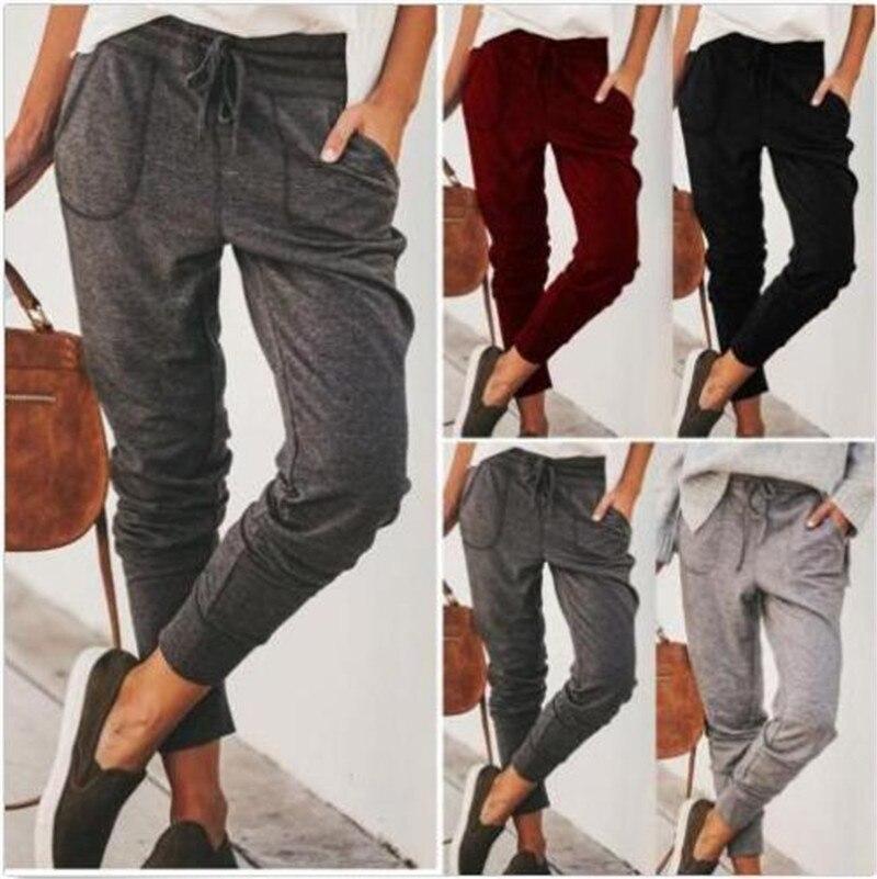 Pantalons de survêtement pour femmes pantalons de sport descalade de montagne en plein air pantalons de survêtement à cordon décontractés pantalons de survêtement doux Harem Fitness