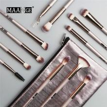 12PCS Professional Makeup Brushes Set Make Up Powder Brush Pinceaux Maquillage Beauty Cosmetic Tools Kit Eyeshadow Lip Brush Bag