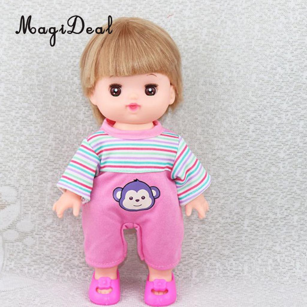0a27e2e4c272 Lovely Pink Striped Jumpsuit for 25cm Mellchan Baby Doll Clothes ...