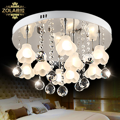 Ceiling Lights & Fans Zora Light Of Modern Crystal Lamp Lamp Ceiling Lamp Lamp European Bedroom Living Room Lights Simple Lighting Cl9152 Strong Resistance To Heat And Hard Wearing Ceiling Lights