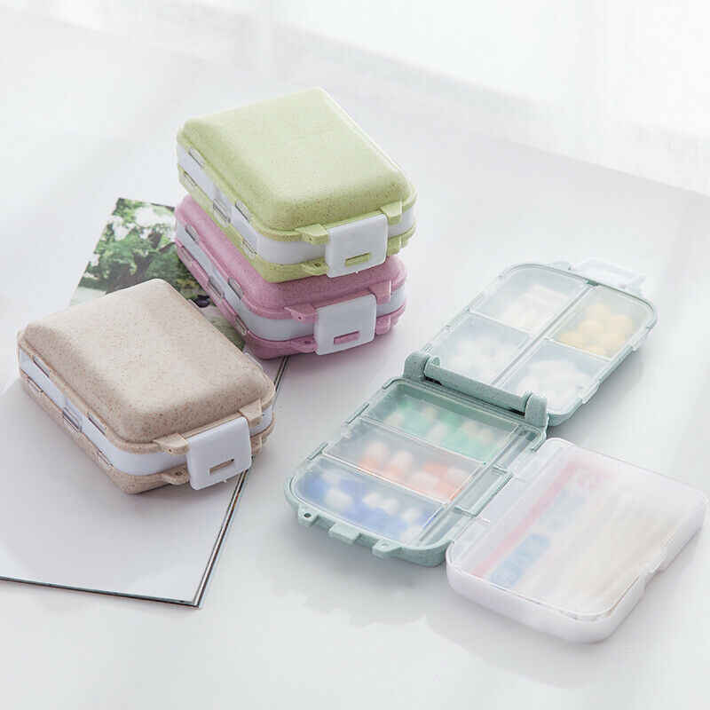 2019 Newest Hot Travel Three Layers Folding Pill Case Medical Kit Box Medicine Tablet Organizer Holder