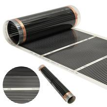 Черный 60 градусов электрический домашний пол инфракрасный пол с подогревом плёнки теплый коврик 50 см x 6 м