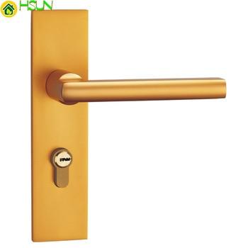 Space Aluminum Golden Mute Lock Indoor Lock Have Bedroom Door Toilet Lock Double Tongue Hand Lock